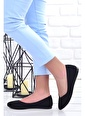 Ayakland Ayakland 1920-202 Günlük Anatomik Bayan Süet Babet Ayakkabı Siyah